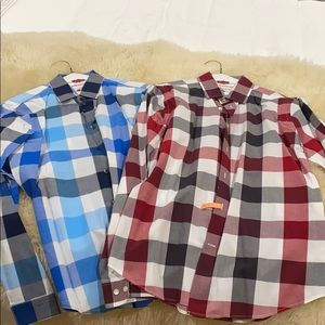 Pair of Men's Express dress shirts